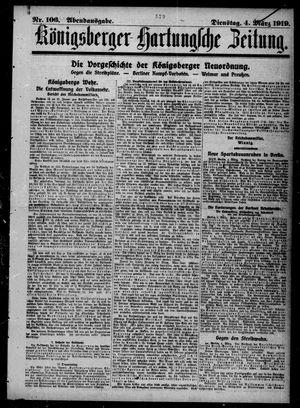 Königsberger Hartungsche Zeitung vom 04.03.1919