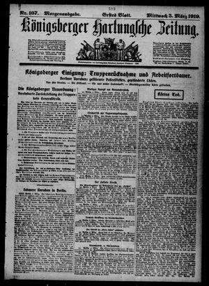 Königsberger Hartungsche Zeitung vom 05.03.1919