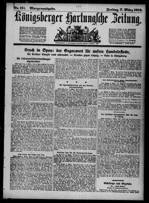 Königsberger Hartungsche Zeitung vom 07.03.1919