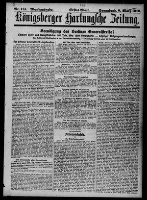 Königsberger Hartungsche Zeitung on Mar 8, 1919