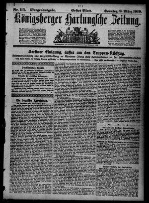 Königsberger Hartungsche Zeitung vom 09.03.1919