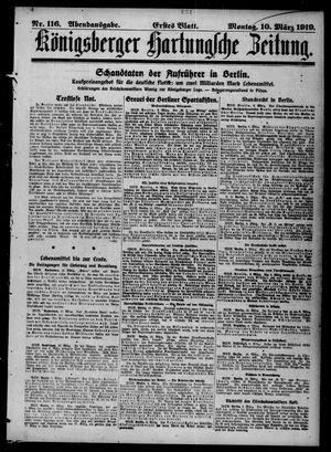 Königsberger Hartungsche Zeitung vom 10.03.1919