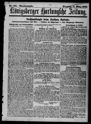 Königsberger Hartungsche Zeitung vom 11.03.1919