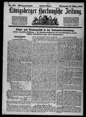 Königsberger Hartungsche Zeitung vom 12.03.1919