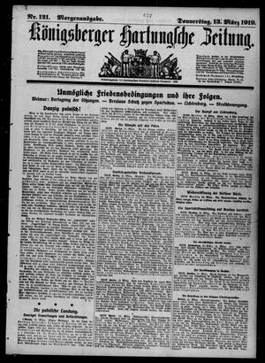 Königsberger Hartungsche Zeitung vom 13.03.1919