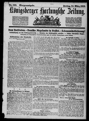 Königsberger Hartungsche Zeitung vom 14.03.1919