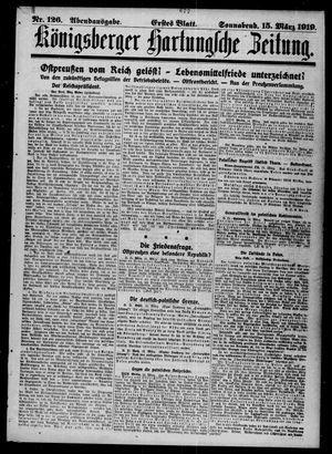 Königsberger Hartungsche Zeitung on Mar 15, 1919