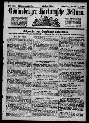 Königsberger Hartungsche Zeitung vom 16.03.1919