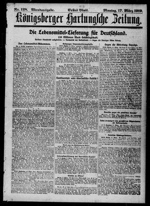Königsberger Hartungsche Zeitung vom 17.03.1919