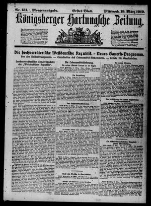 Königsberger Hartungsche Zeitung vom 19.03.1919
