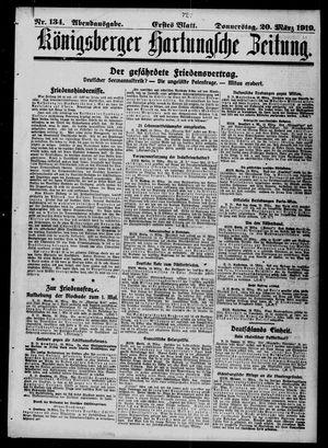 Königsberger Hartungsche Zeitung vom 20.03.1919