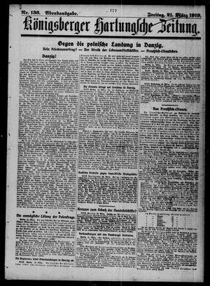 Königsberger Hartungsche Zeitung vom 21.03.1919