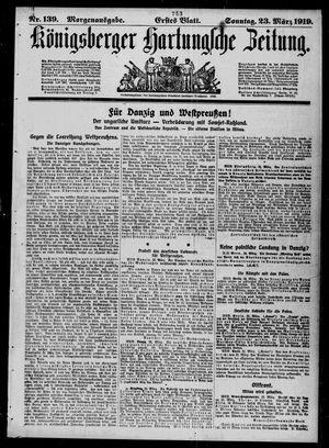 Königsberger Hartungsche Zeitung vom 23.03.1919