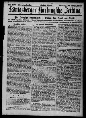 Königsberger Hartungsche Zeitung vom 24.03.1919