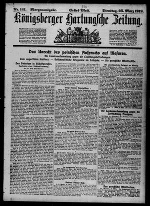 Königsberger Hartungsche Zeitung on Mar 25, 1919
