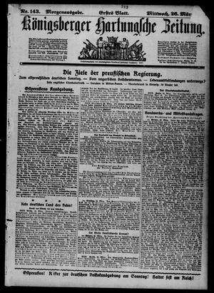 Königsberger Hartungsche Zeitung vom 26.03.1919