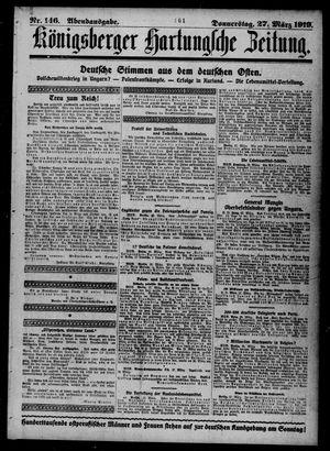 Königsberger Hartungsche Zeitung vom 27.03.1919