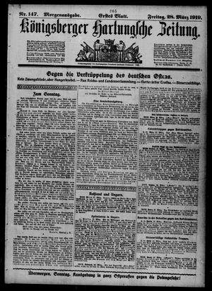 Königsberger Hartungsche Zeitung vom 28.03.1919