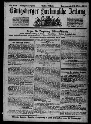 Königsberger Hartungsche Zeitung vom 29.03.1919