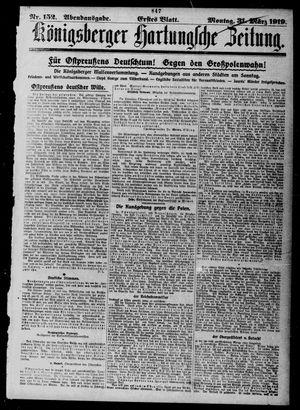 Königsberger Hartungsche Zeitung vom 31.03.1919