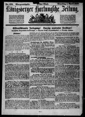Königsberger Hartungsche Zeitung vom 01.04.1919