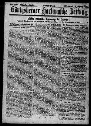 Königsberger Hartungsche Zeitung vom 02.04.1919