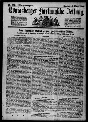 Königsberger Hartungsche Zeitung vom 04.04.1919