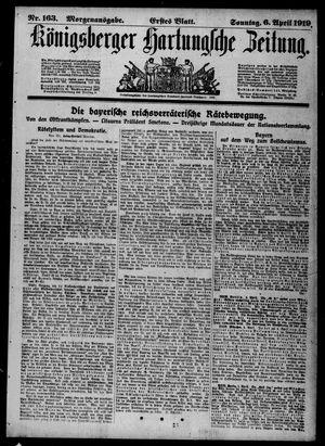 Königsberger Hartungsche Zeitung vom 06.04.1919