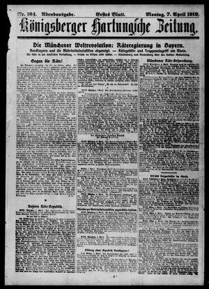 Königsberger Hartungsche Zeitung vom 07.04.1919