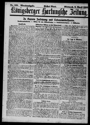 Königsberger Hartungsche Zeitung vom 09.04.1919