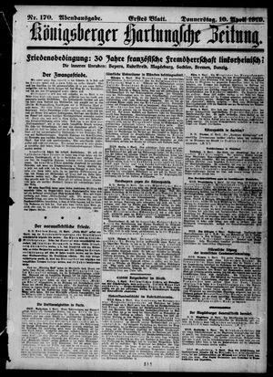 Königsberger Hartungsche Zeitung vom 10.04.1919