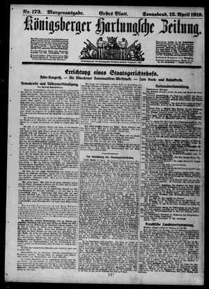 Königsberger Hartungsche Zeitung vom 12.04.1919