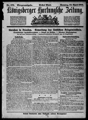 Königsberger Hartungsche Zeitung vom 13.04.1919