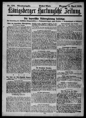Königsberger Hartungsche Zeitung vom 14.04.1919