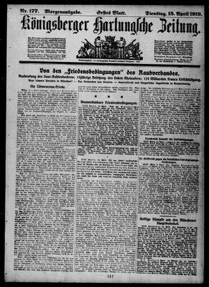 Königsberger Hartungsche Zeitung vom 15.04.1919