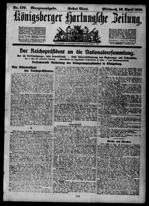 Königsberger Hartungsche Zeitung vom 16.04.1919