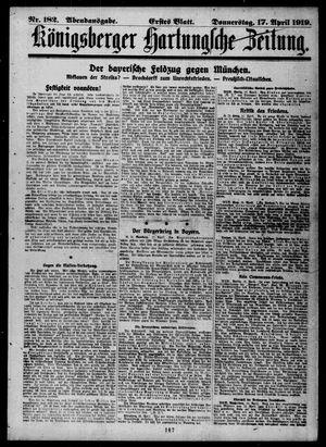 Königsberger Hartungsche Zeitung vom 17.04.1919