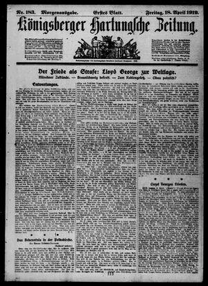 Königsberger Hartungsche Zeitung vom 18.04.1919