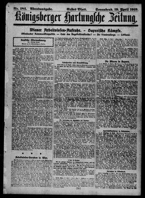 Königsberger Hartungsche Zeitung on Apr 19, 1919
