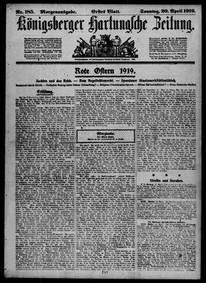 Königsberger Hartungsche Zeitung vom 20.04.1919