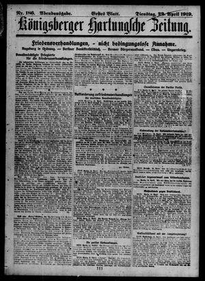 Königsberger Hartungsche Zeitung vom 22.04.1919