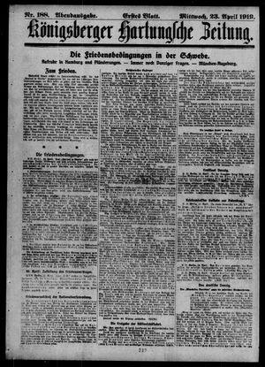 Königsberger Hartungsche Zeitung vom 23.04.1919