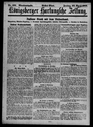 Königsberger Hartungsche Zeitung vom 25.04.1919