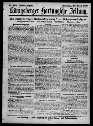 Königsberger Hartungsche Zeitung vom 29.04.1919