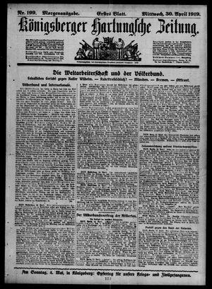 Königsberger Hartungsche Zeitung vom 30.04.1919