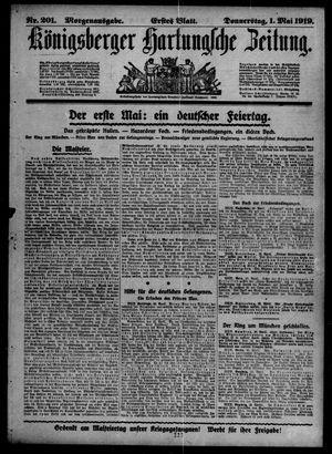 Königsberger Hartungsche Zeitung on May 1, 1919