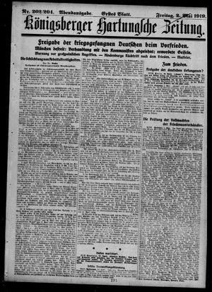 Königsberger Hartungsche Zeitung on May 2, 1919
