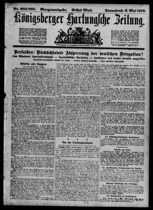 Königsberger Hartungsche Zeitung vom 03.05.1919