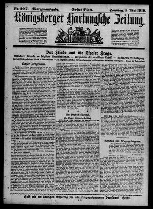 Königsberger Hartungsche Zeitung vom 04.05.1919