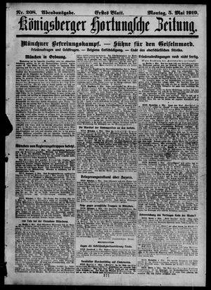 Königsberger Hartungsche Zeitung vom 05.05.1919